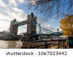 tower bridge seen from north... | Shutterstock . vector #1067023442
