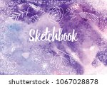 abstract colorful watercolor... | Shutterstock .eps vector #1067028878