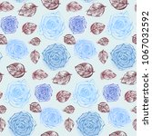 floral seamless pattern with... | Shutterstock .eps vector #1067032592