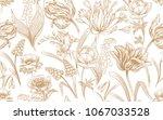 spring flowers. flower vintage... | Shutterstock .eps vector #1067033528