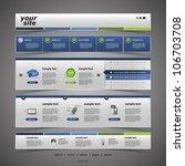 website template | Shutterstock .eps vector #106703708