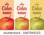 vector set of labels for apple... | Shutterstock .eps vector #1067043152