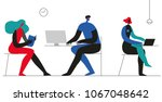 office concept business people...   Shutterstock .eps vector #1067048642
