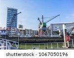rotterdam  the netherlands  ... | Shutterstock . vector #1067050196