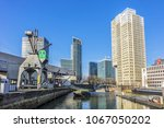 rotterdam  the netherlands  ... | Shutterstock . vector #1067050202