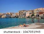 syros island  cyclades  aegean... | Shutterstock . vector #1067051945