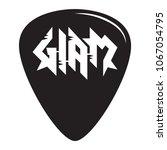 glam metal guitar pick mediator ... | Shutterstock .eps vector #1067054795