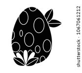 painted easter egg dotted and... | Shutterstock .eps vector #1067061212