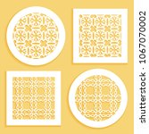 templates for laser cutting ... | Shutterstock .eps vector #1067070002