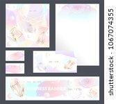 corporate identity templates...   Shutterstock .eps vector #1067074355