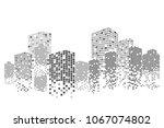 modern city skyline life... | Shutterstock .eps vector #1067074802