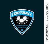 football soccer  badges design... | Shutterstock .eps vector #1067074898
