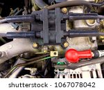 ignition distributor of a four... | Shutterstock . vector #1067078042