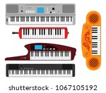 keyboard musical instruments... | Shutterstock .eps vector #1067105192