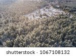 aerial view of  houses isolated ... | Shutterstock . vector #1067108132