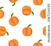 ripe peaches seamless pattern.... | Shutterstock .eps vector #1067114255