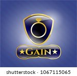 gold badge or emblem with...   Shutterstock .eps vector #1067115065