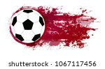illustration of a soccer ball... | Shutterstock .eps vector #1067117456