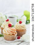 Delicate Vanilla Cupcakes With...