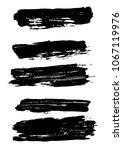 large set different grunge... | Shutterstock .eps vector #1067119976