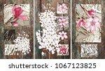 collection of designer oil... | Shutterstock . vector #1067123825