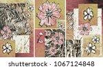collection of designer oil... | Shutterstock . vector #1067124848