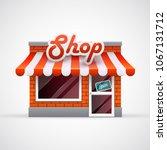 shop icon. facade    Shutterstock .eps vector #1067131712