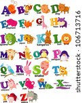 animal alphabet letter   a z | Shutterstock .eps vector #106713716