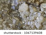 calcite mineral structure as... | Shutterstock . vector #1067139608