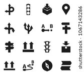 flat vector icon set   compass... | Shutterstock .eps vector #1067143286