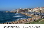 view from hill at jaffa portand ... | Shutterstock . vector #1067146436