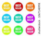 best seller word on circle... | Shutterstock .eps vector #1067148998