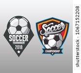 soccer badge  football logo...   Shutterstock .eps vector #1067152208