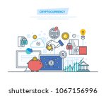 crypto currency  cryptography ... | Shutterstock .eps vector #1067156996