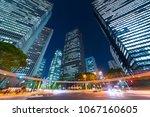 tokyo night view   shinjuku... | Shutterstock . vector #1067160605
