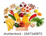 healthy food background.... | Shutterstock . vector #1067160872