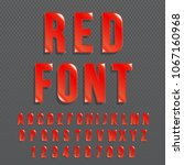 red glossy vector font or red... | Shutterstock .eps vector #1067160968