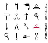 icon instruments and tools with ... | Shutterstock .eps vector #1067163512