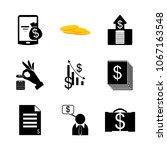 icon currency with cash  money... | Shutterstock .eps vector #1067163548