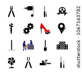 icon instruments and tools with ... | Shutterstock .eps vector #1067163782