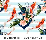 beautiful seamless vector...   Shutterstock .eps vector #1067169425