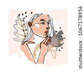 modern minimalist continuos... | Shutterstock .eps vector #1067178956