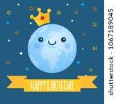 earth day vector background.... | Shutterstock .eps vector #1067189045