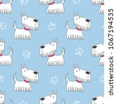 seamless pattern with cute... | Shutterstock .eps vector #1067194535