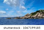 blue sky with blue sea... | Shutterstock . vector #1067199185