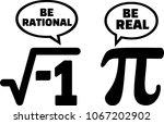 pi math nerd comic be rational...   Shutterstock .eps vector #1067202902