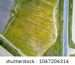 aerial drone view on on fields  ... | Shutterstock . vector #1067206316