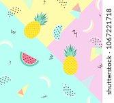 summer background. punchy... | Shutterstock .eps vector #1067221718