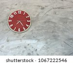 decoration of red clock on the... | Shutterstock . vector #1067222546