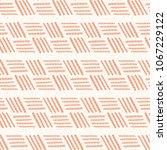 Peach Pink Basketweave Stripes...